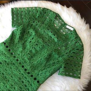 NWOT Sandro Paris Emerald Green Embroidered Dress